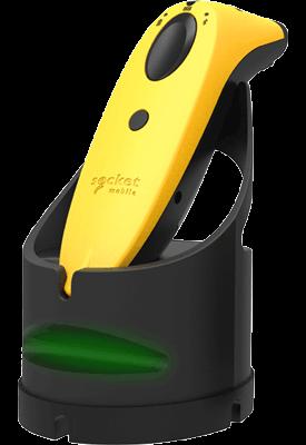 Yellow scanner charging in Charging Dock